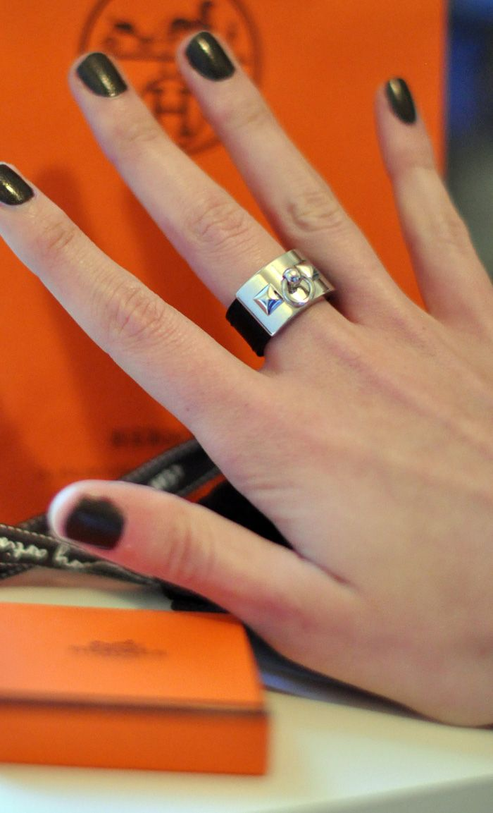 Hermes @Becca Laws reminded me of your hand and nail polish and that ring would look awesome on you :)