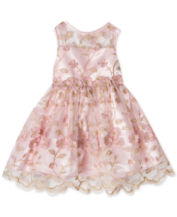 8173548e4 Rare Editions Baby Girls Embroidered Dress - Pink 3-6 months ...