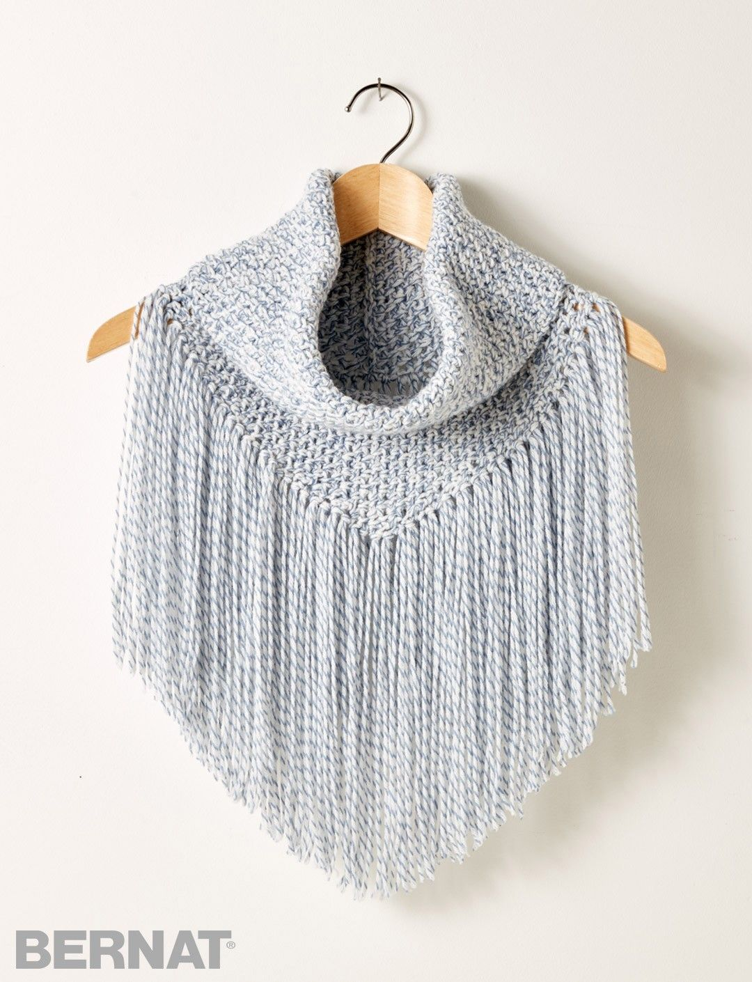Yarnspirations.com - Bernat Cozy Fringed Cowl - Patterns ...