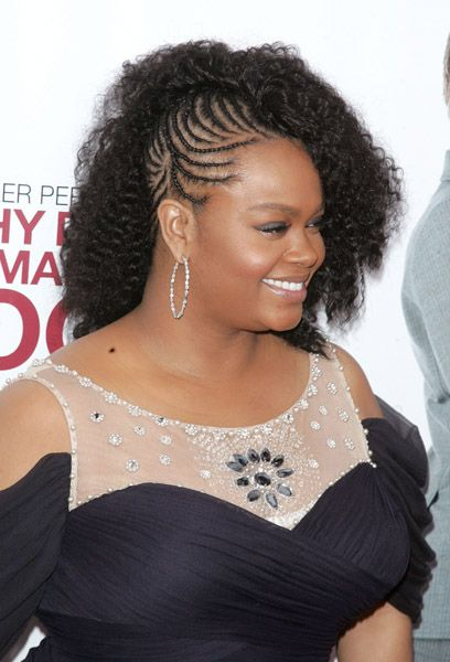 Jill Scott In Braids Natural Hair Styles Braided Mohawk Hairstyles Hair Styles