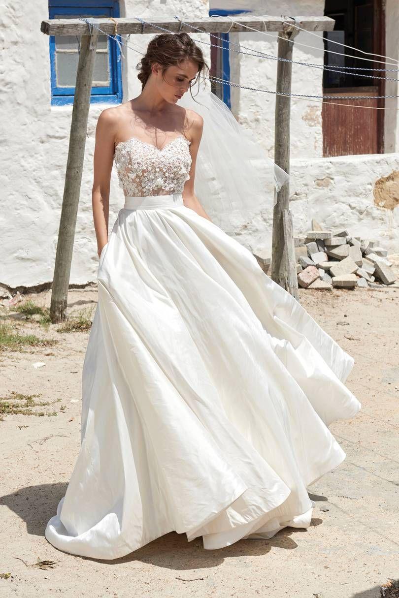 Beach wedding looks for bride   Romantic Beach Wedding Dresses  Wedding dress  Pinterest