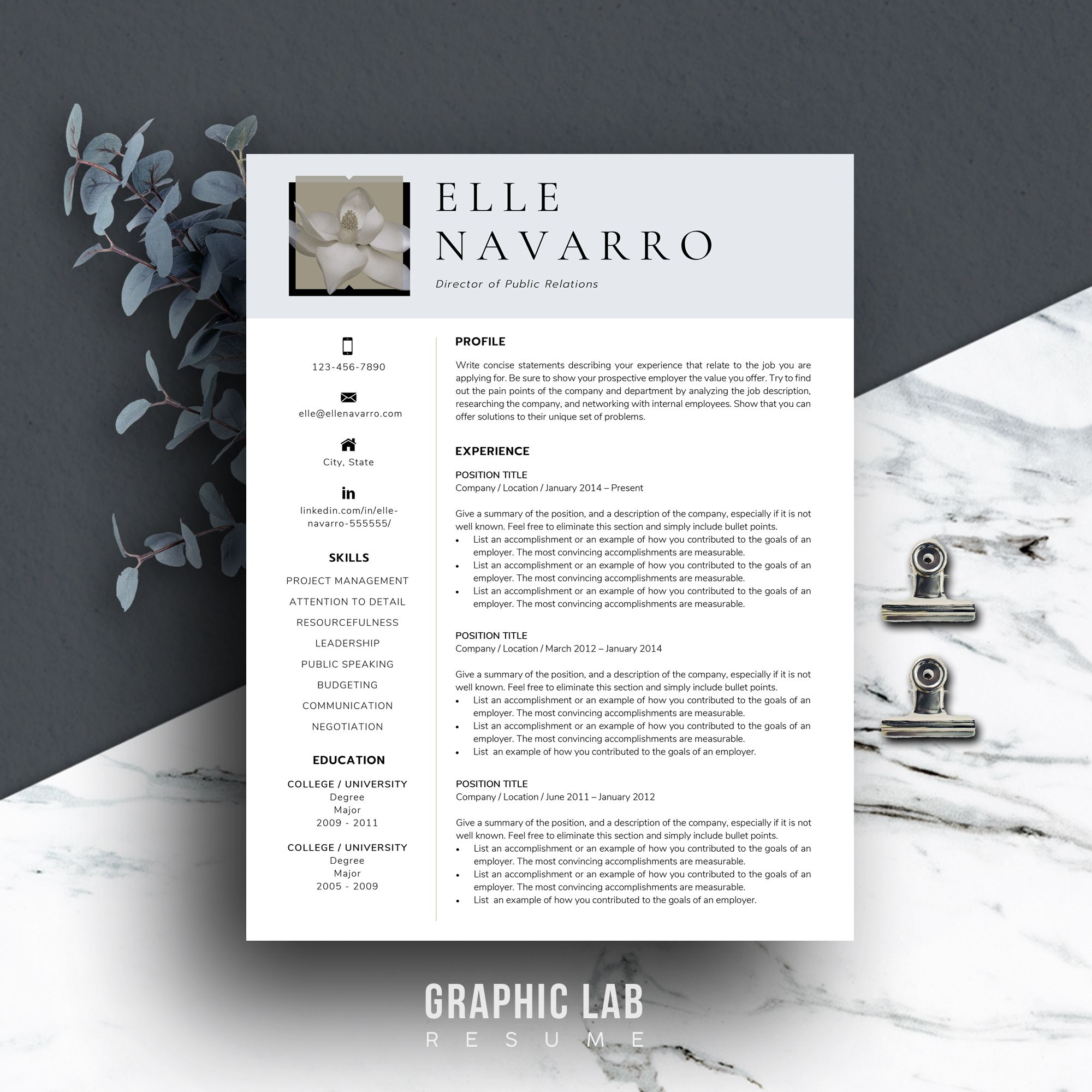 References Sheet Template Brilliant Modern Resume Template  Creative Resume Template  Resume Template .