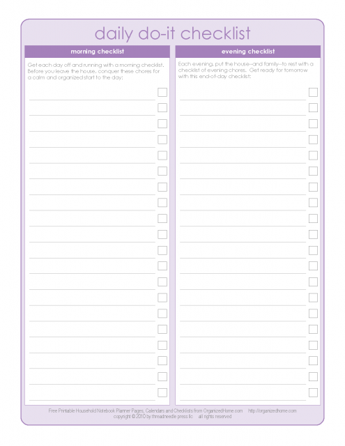 graphic regarding Free Printable Home Organizer Notebook named Print out in direction of do listing for a Do it yourself planner/organizer Do it yourself