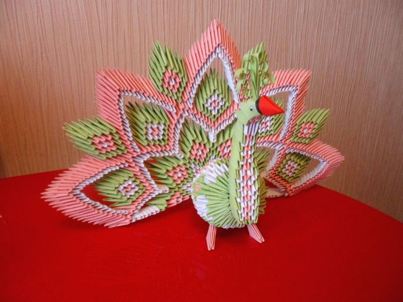 Origami 3d paon en 3d origami 3d pinterest origami 3d crafts mightylinksfo