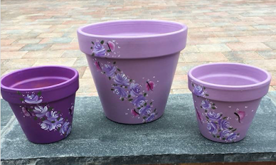 10 Painting Projects To Inspire You Painted Flower Pots Terracotta Flower Pots Painted Plant Pots
