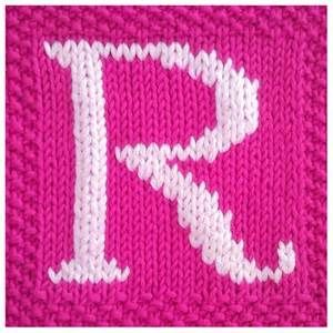knit embroidery letters - Bing images   Knitting patterns ...