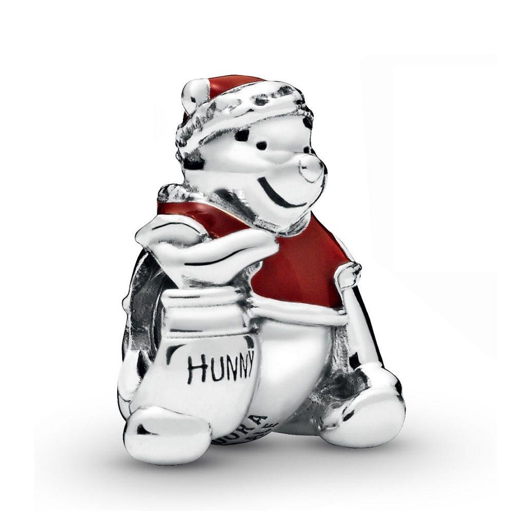 Pandora Disney Winnie the Pooh Hunny Pot Christmas Enamel Charm ...