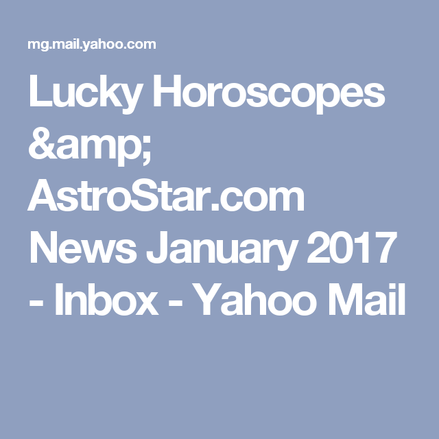 astrostar lucky horoscope