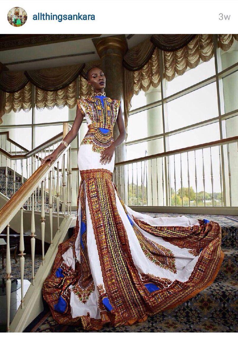 Pinterest African Print Evening Dresses