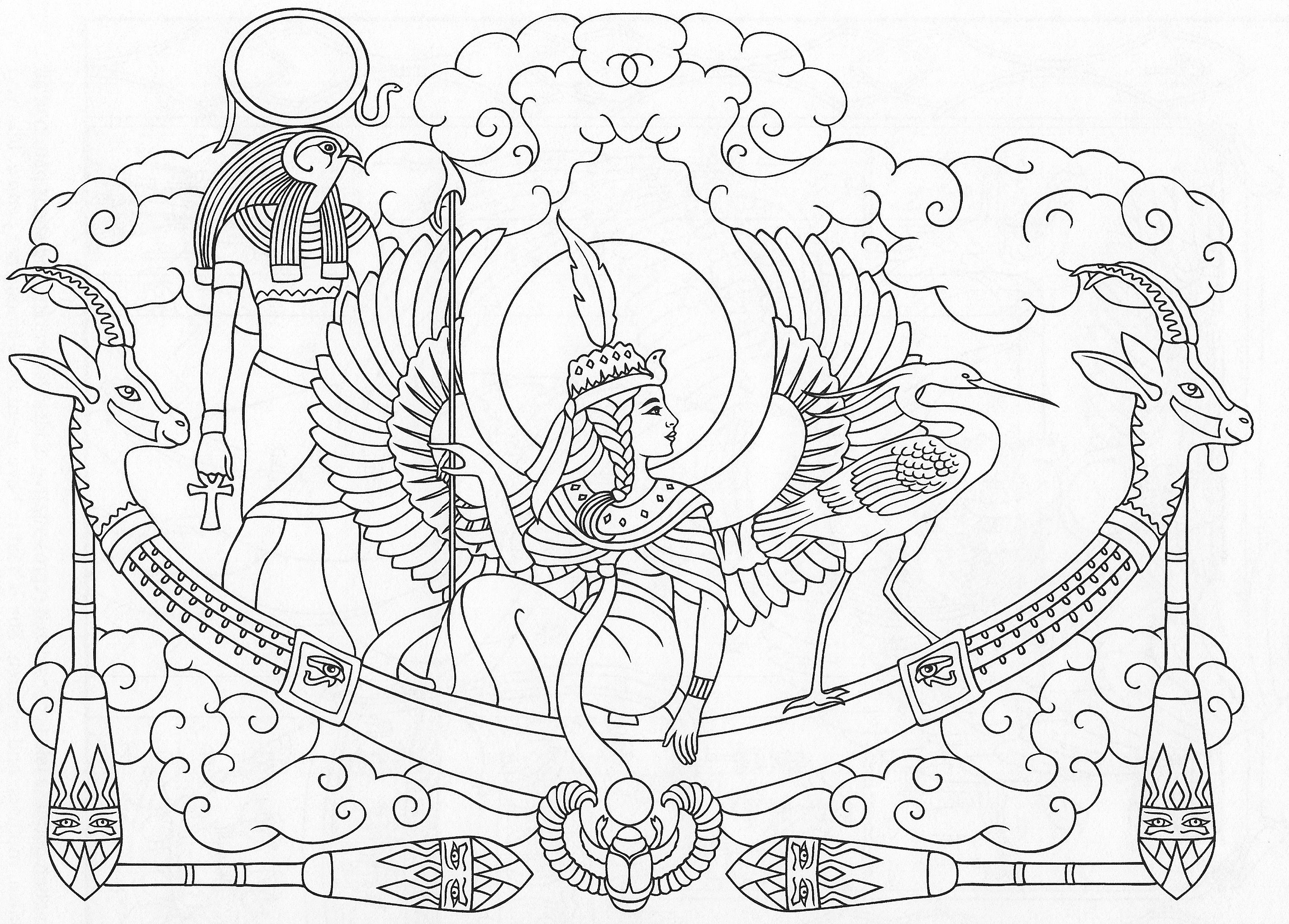 Pin By Elsa Ruiz On Egyptian With Images Dover Coloring Pages