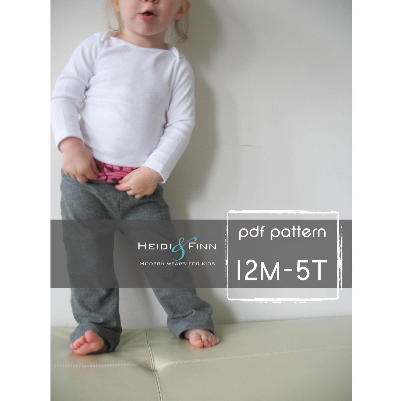 Comfy Yoga Pants pattern and tutorial PDF boy girl EASY SEW 12m-5T