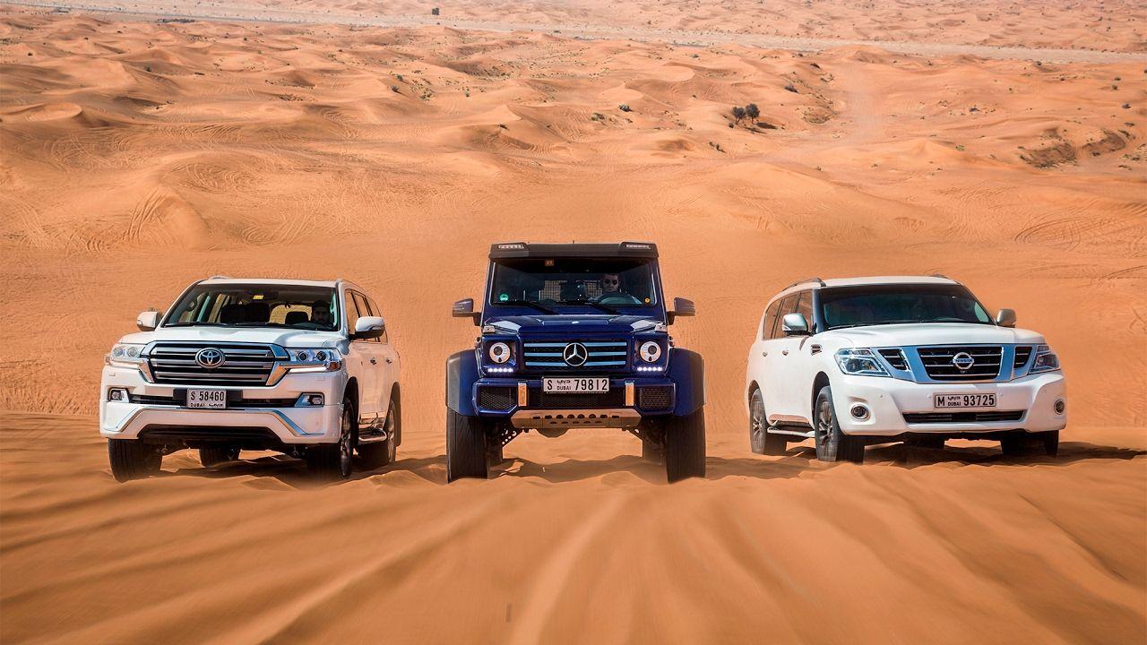 DRAG RACE | Mercedes-Benz G500 4×4² Vs. Toyota Land Cruiser Vs ...