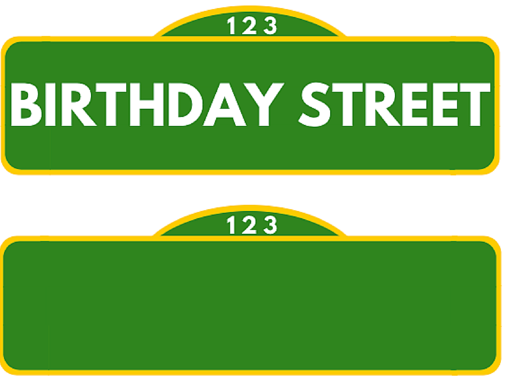 Medium Sesame Street Sign Sesame Street Signs Street Signs Sesame Street Birthday Party