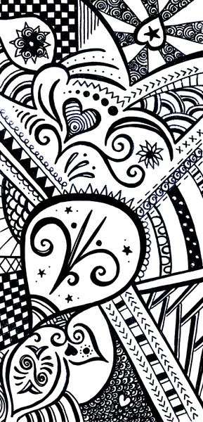 Zentangle Art Print | Mandalas, Dibujo y Cosas interesantes