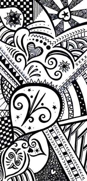 Zentangle Art Print By Wealie Society6 Original Fineliner