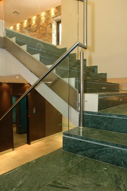 Stair With Verde India Marble Marble Stairs Pinterest Marble