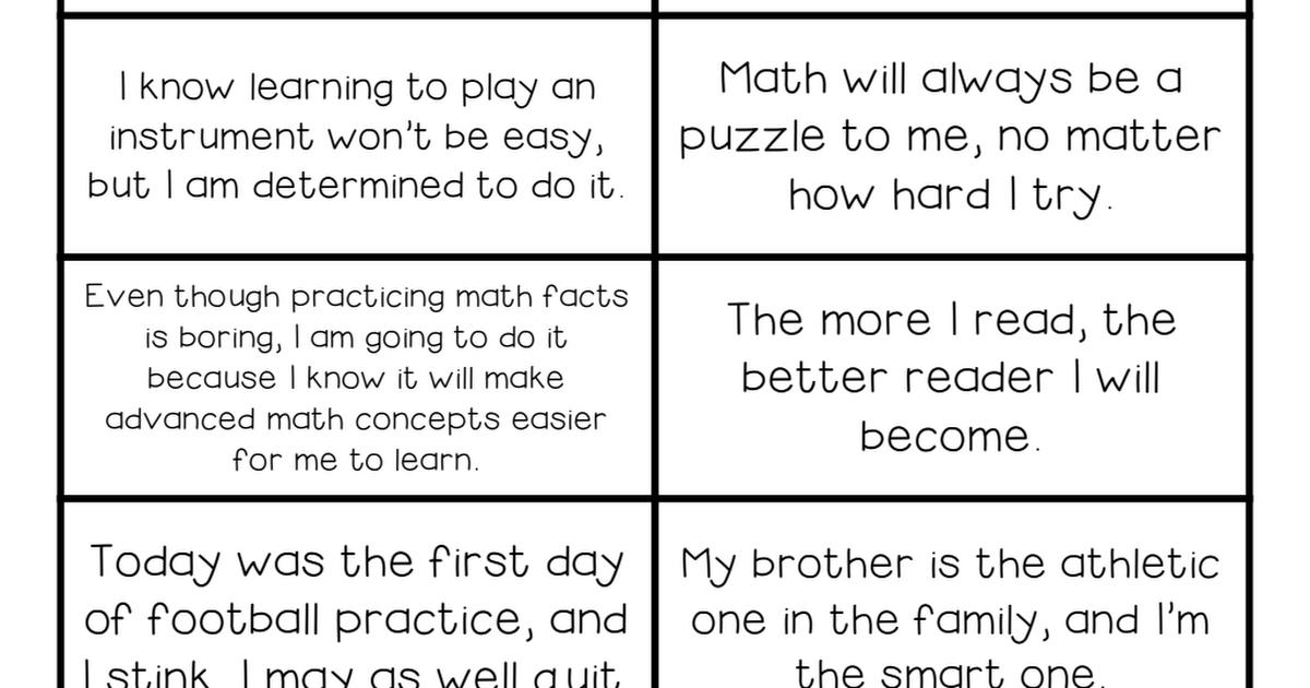 growth mindset activity sort pdf | Growth mind set | Growth