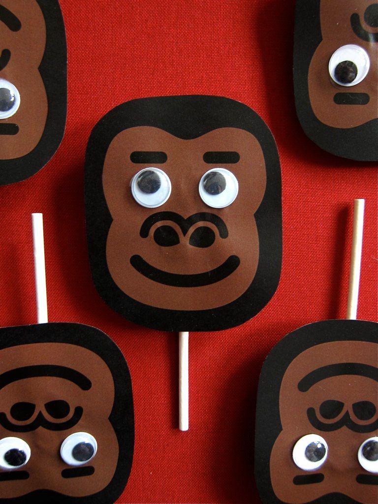 Sandwich Flag, Decoration, King Kong Party, Gorilla, Monkey, Kids ...