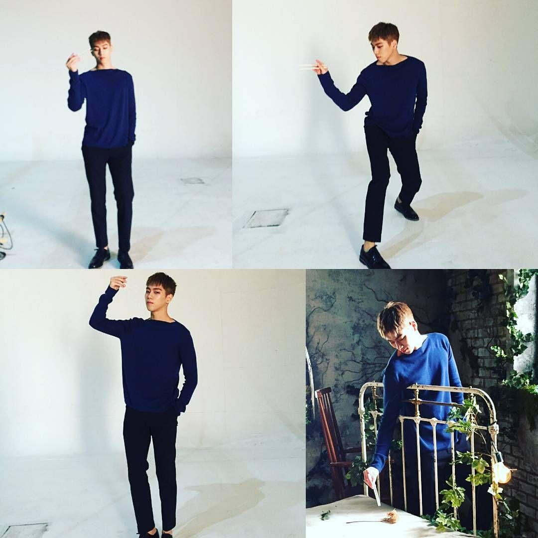 [유진] 젓가락과 함께 2탄~  #크나큰 #YOUJIN #KNK #유진#4컷사진 #젓가락 #은 #나의 #친구 #하하하 #뮤비현장 #비하인드컷