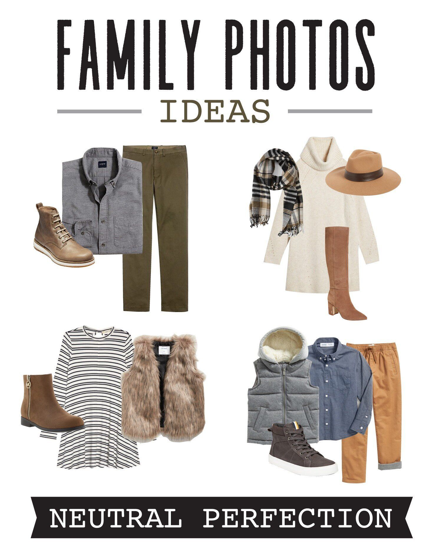 Coordinating Family Photo Outfit Ideas #familyphotooutfits