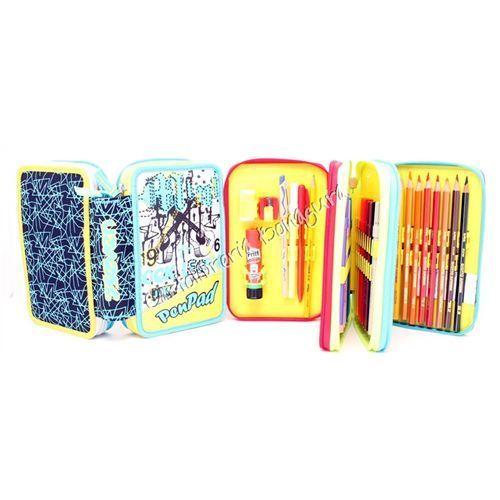 Astuccio 3 Zip Giallo Pen Pad Boy Seven | eBay