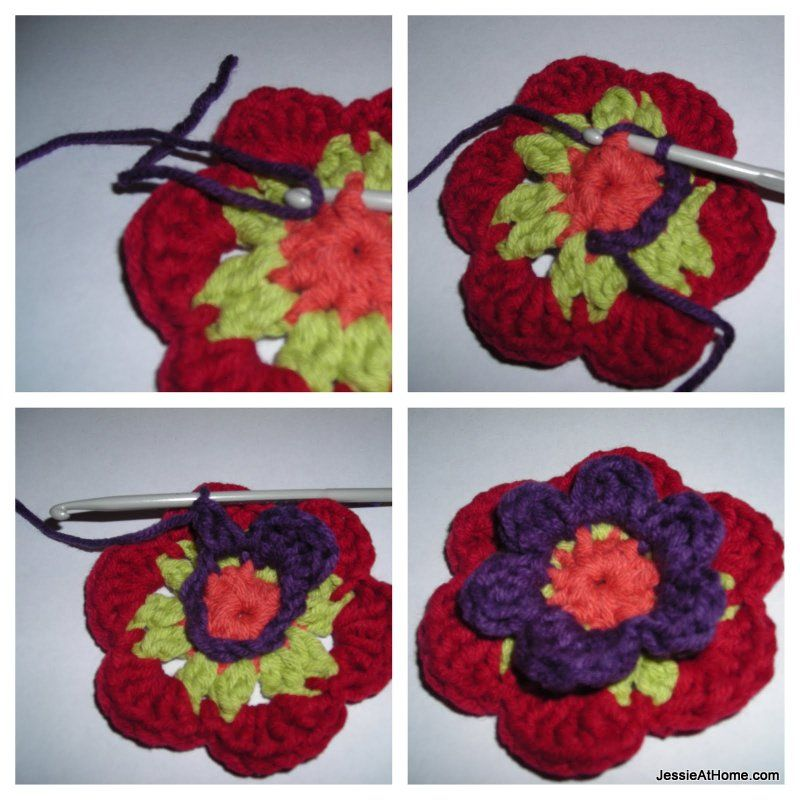 Flower Hexagon Granny How-To | artesano by Asela Ortiz de Murua ...