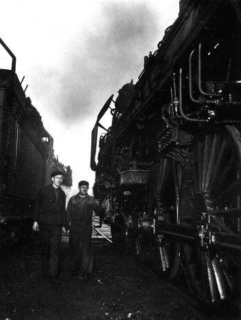 Cheminots. 1945. Doisneau