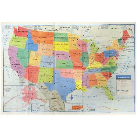 Home United States Map Wall Maps Map