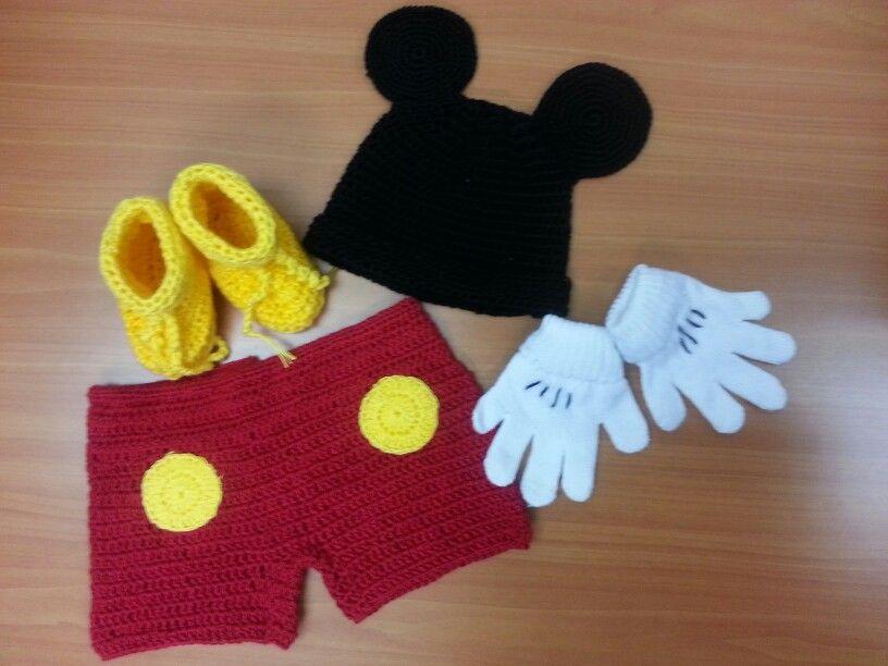 Mickey mouse - tejido a crochet