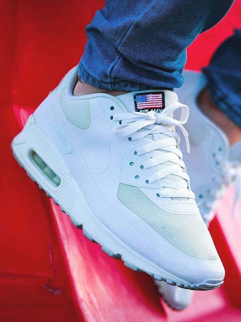 2013 Red White Black Grey Nike Air Max 90 Hyperfuse Mens