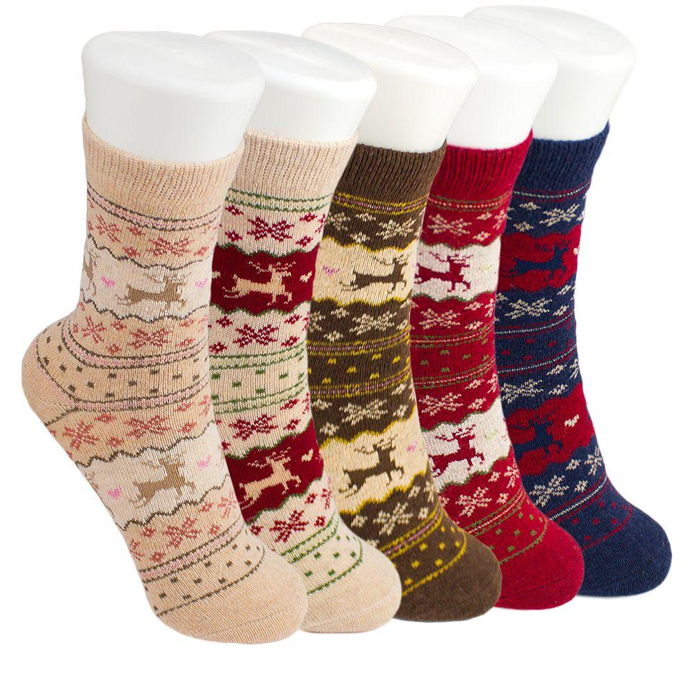 Weihnachten Socken frauen Mädchen Mode Winter Kaninchen Wolle ...