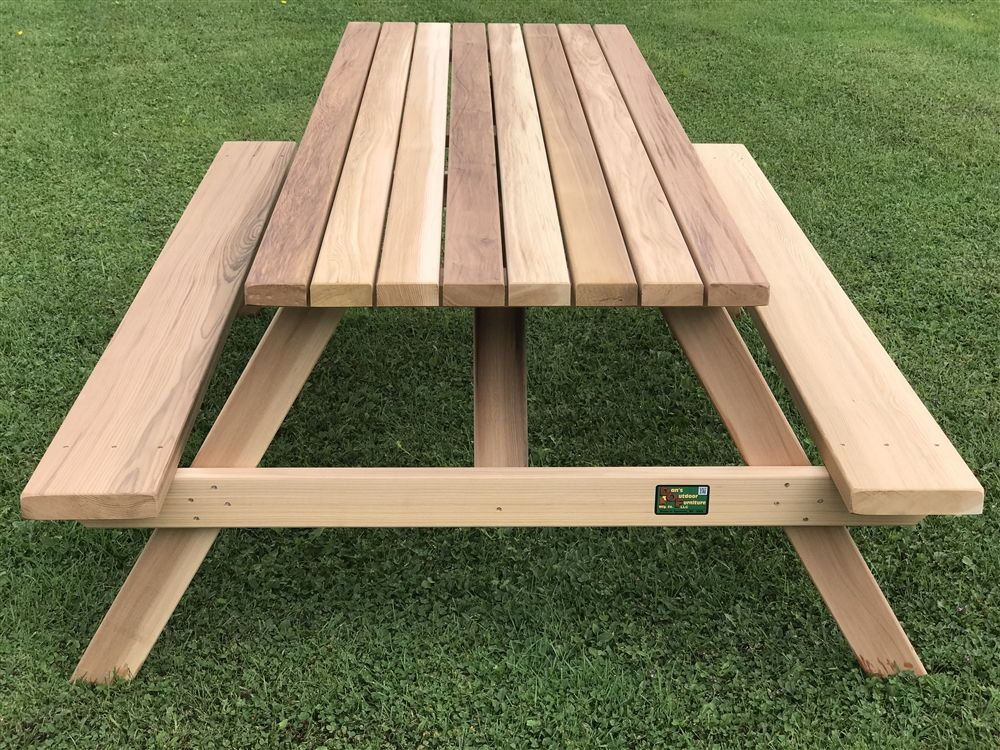 7 Non Tipping Heavy Duty Cedar Picnic Table Seats Eight With Images Mebli