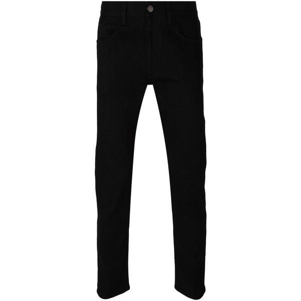 Gucci Black Slim Jeans ($700) ❤ liked on Polyvore featuring men's fashion, men's clothing, men's jeans, black and gucci mens jeans