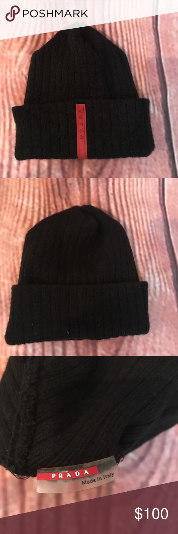 6f63d592290 Authentic PRADA skull cap Excellent condition. Black PRADA skull cap. Prada  Accessories Hats