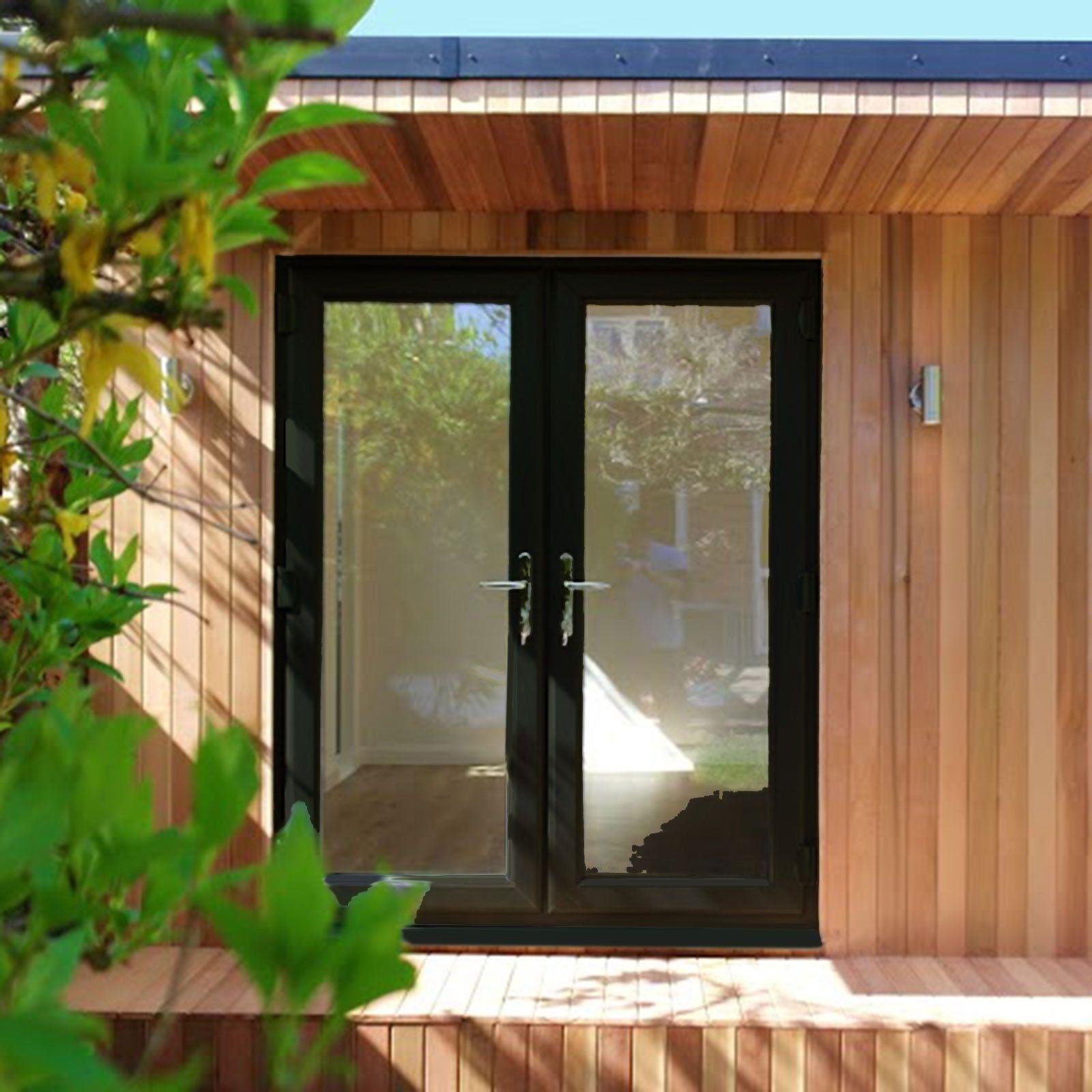Black Upvc French Doors External Doors Double Patio Doors Ebay