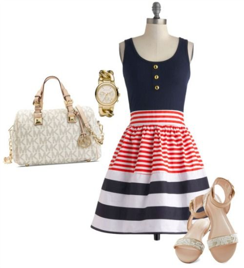 4th of July Summer Outfit Nautical dress Summer and Woman