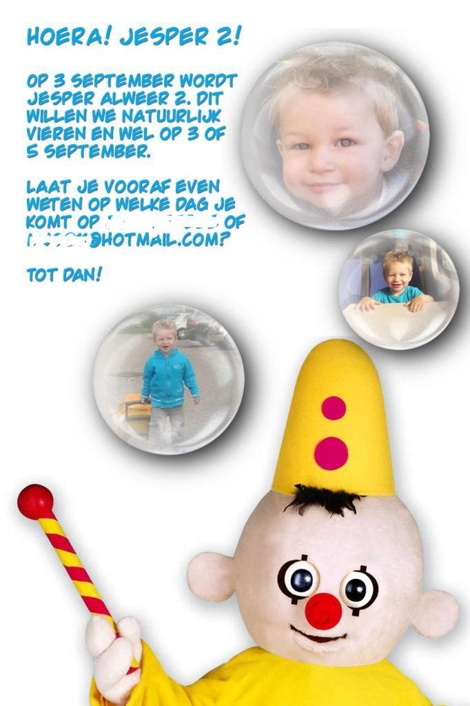 uitnodiging kinderfeestje bumba