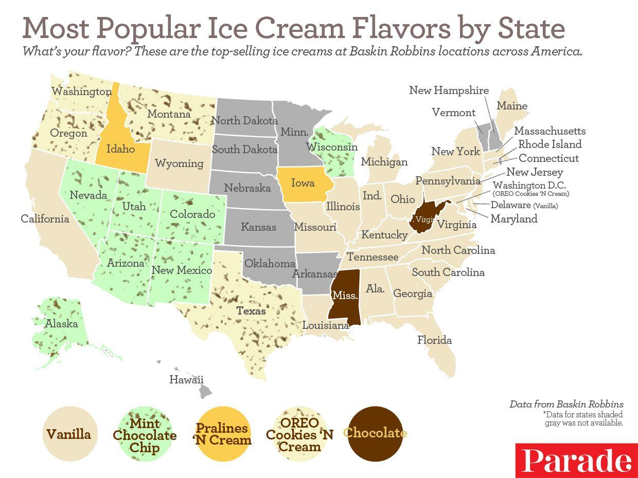Californians Prefer Vanilla: Most Popular Ice Cream Flavors