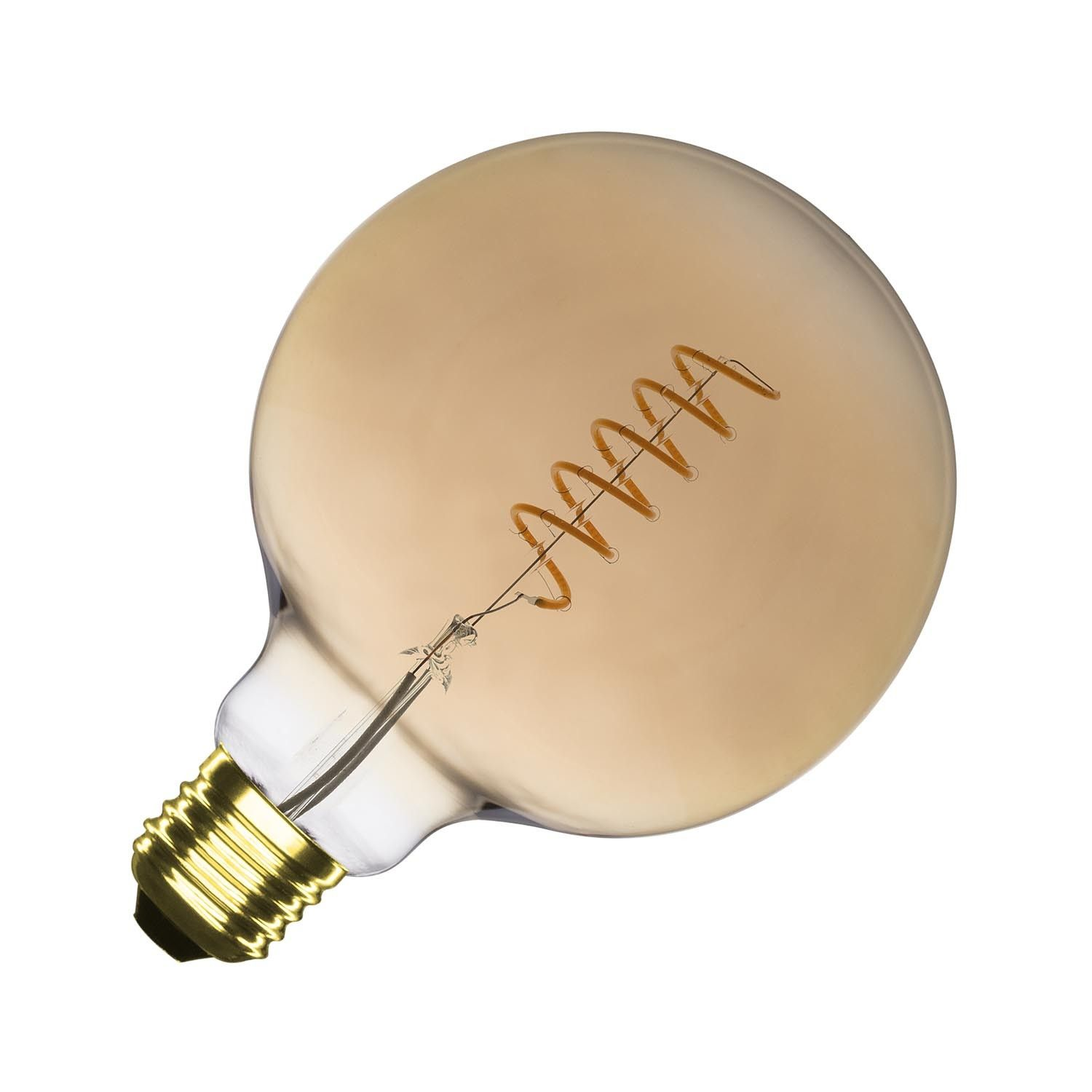 G125 E27 4w Supreme Spiral Gold Filament Led Bulb Dimmable