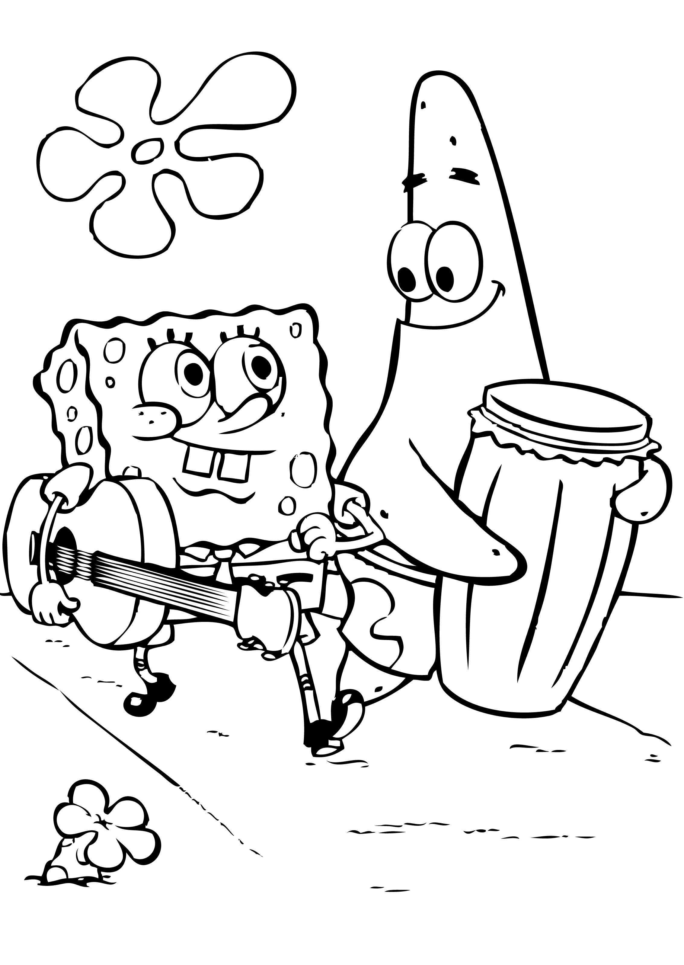 Awesome Color Spongebob Free Download Colouring Pages