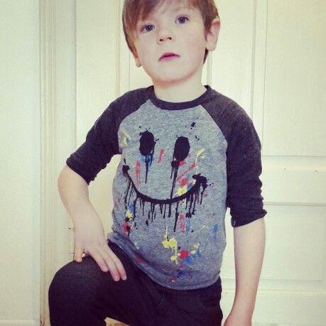 cute shirt by lauren moshi;  pants by lpb  kids clothing cool kids raglan