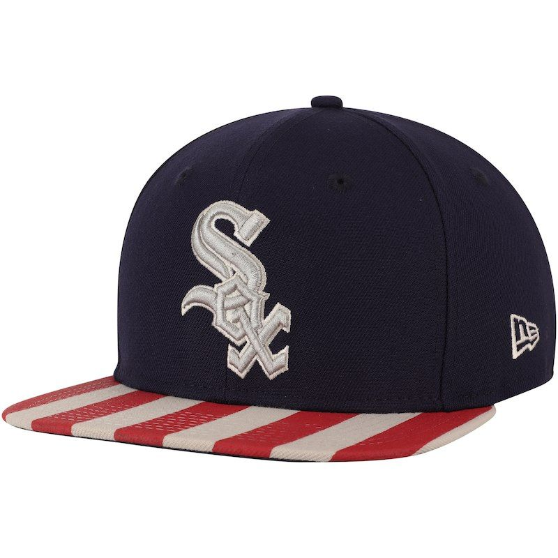 266e56887 Chicago White Sox New Era Fully Flagged 9FIFTY Adjustable Hat – Navy/Red