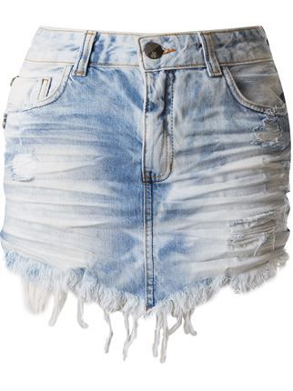 John John Saia Jeans Assimétrica - Restoque - Farfetch.com  74dbcaef92a