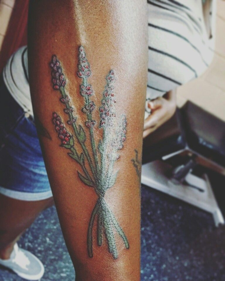 Lavender Tattoo On Darker Skin Tone Lavender Tattoo Stylist