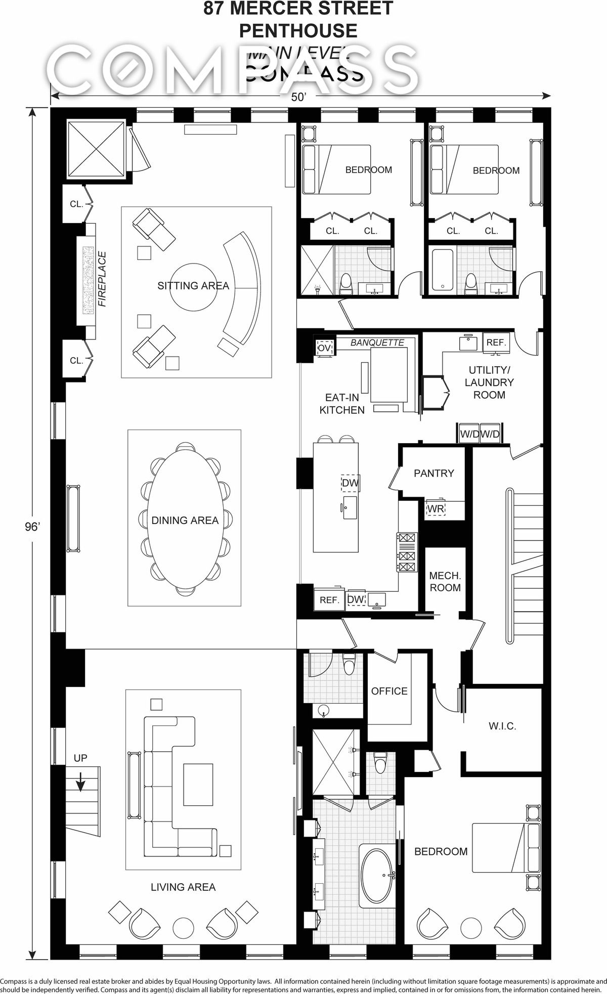 Massive 30m Soho Penthouse Is A Mansion In The Sky Penthouse Apartment Floor Plan Condo Floor Plans Apartment Layout