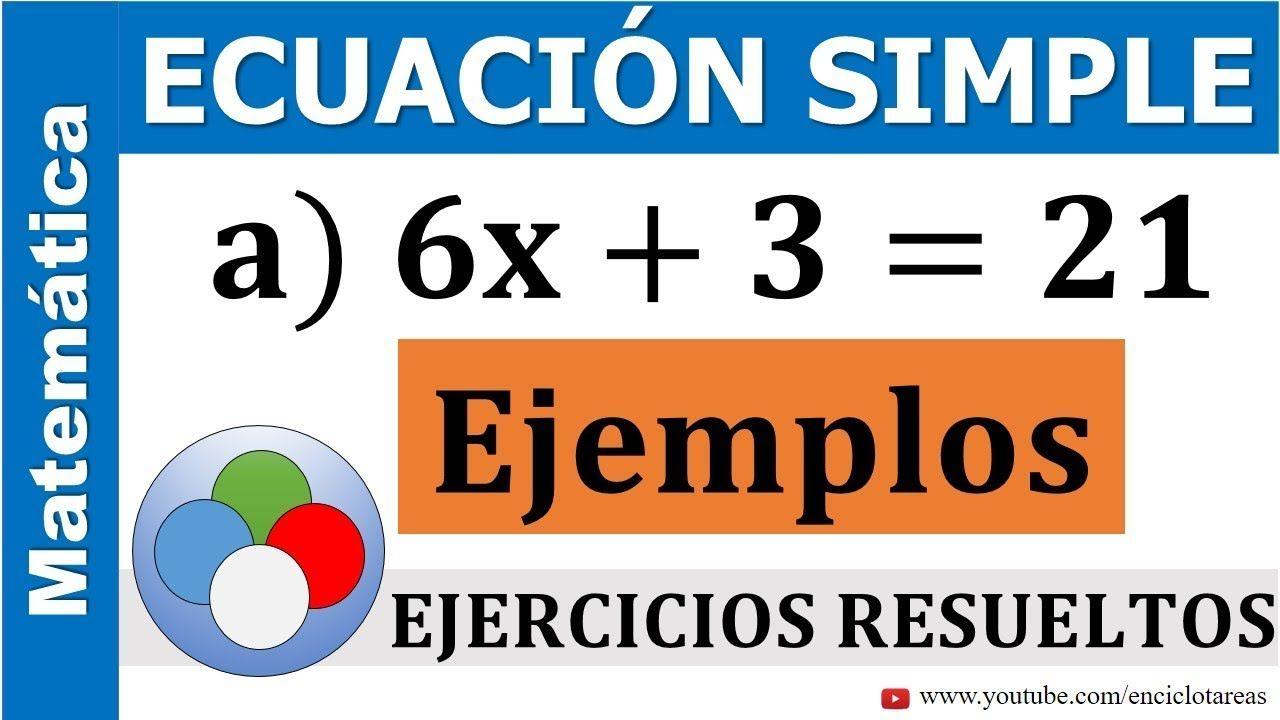 Ecuaciones Simples De Primer Grado Ejercicios Resueltos Youtube Primeros Grados Ecuaciones Ejercicios Resueltos