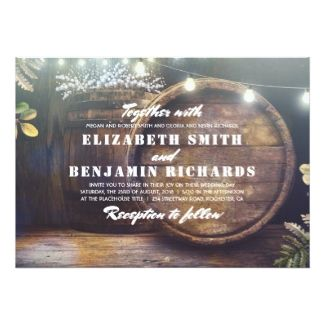 Rustic Country Wedding Invitation #rusticwedding #rusticweddinginvitations #barnwedding #vineyardwedding