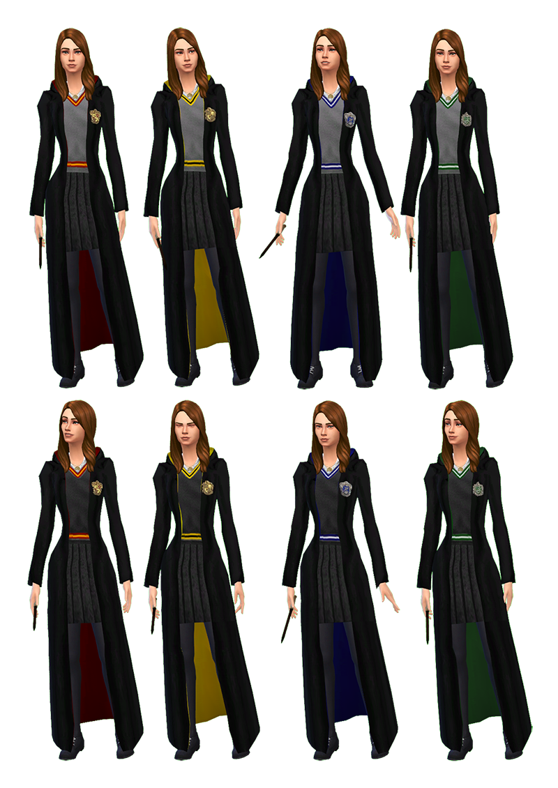 Harry Potter Robes Ts2 To Ts4 By Mathcope Sims 4 Specifications Base Game Compatible Teens Young Adults Adults Harry Potter Robes Sims 4 Sims 4 Studio