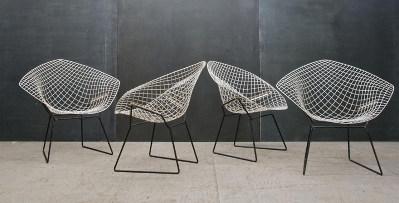 The Iconic Diamond Chair Designed In 1951 By Harry Bertoia. This Armchair  Revolutionized The Furniture Industry. In Fact, It Was The First Armchair  To Be ...