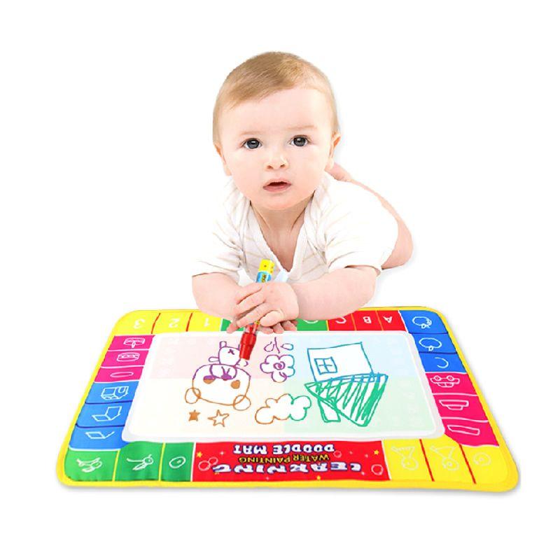 Acqua bambino disegno giocattoli aqua doodle mat & 1 magic pen water tavolo da disegno 4 colori